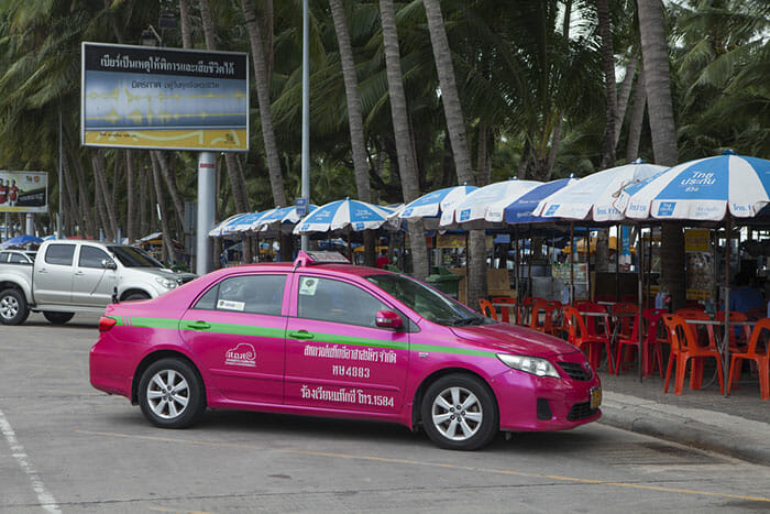 Taxi parked in Pattaya