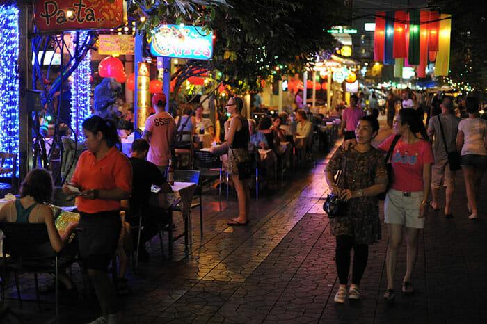 Ambient atmosphere in Khao San Road, Bangkok