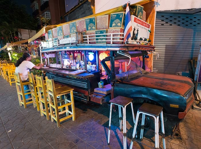 Bar in Khao San Road, Bangkok