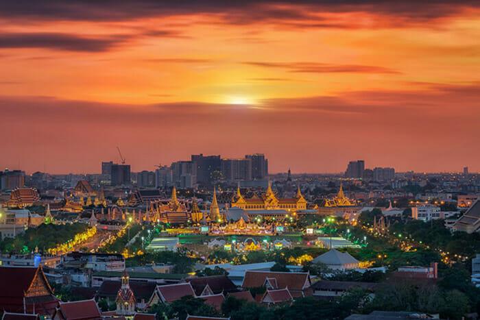 Night Sky at The Grand Palace in Bangkok
