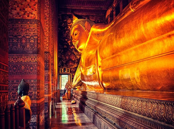 The Temple of The Reclining Buddha (Wat Pho) in Bangkok